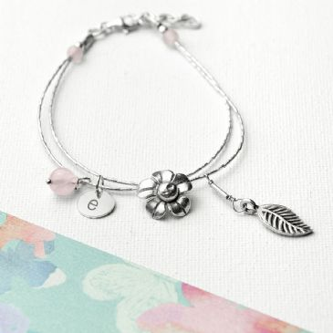Personalised ForgetMeNot Friendship Bracelet & Quartz